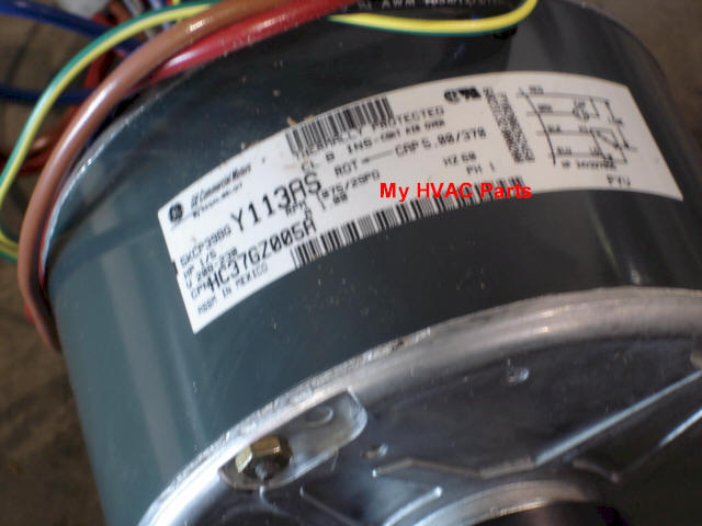 permanent split capacitor motor wiring diagram star delta 1172508 tempstar 1/5 h.p. heat pump condenser fan