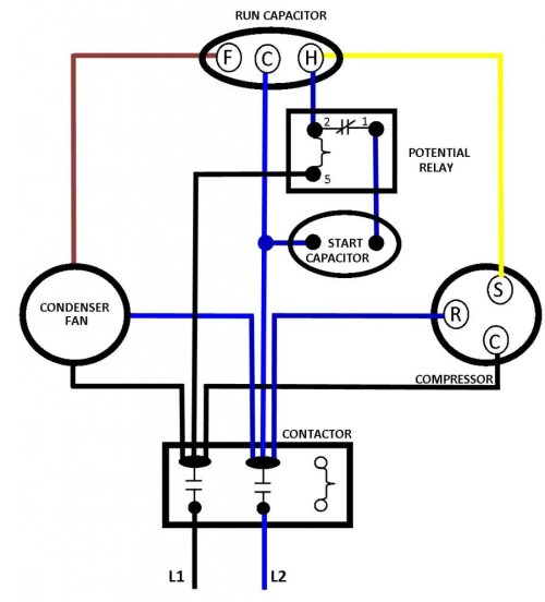 small resolution of hvac compressor wiring wiring diagram home a c compressor contactor wiring