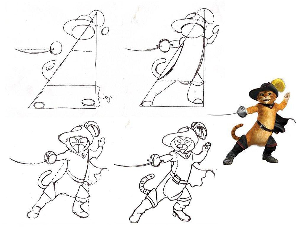 Desenho O Gato De Botas