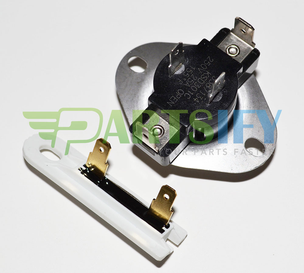 medium resolution of details about new part 3387134 3392519 fits kenmore sears dryer thermostat blower fuse kit