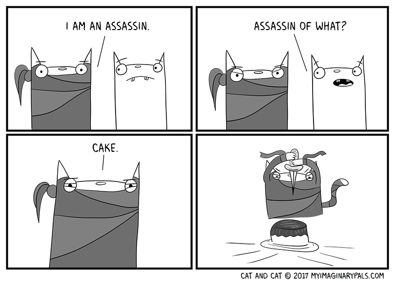 "Cat and Cat in ""Assassin"""