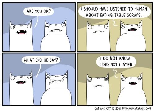 """Cat-and-Cat-Scraps-95-Color Cat and Cat in """"Listen"""""""