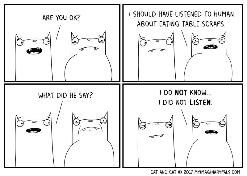 """Cat and Cat in """"Listen"""""""