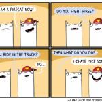 Fire Cat Comic