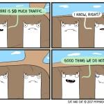 cat comic traffic