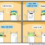 cat comic sick