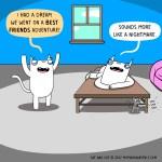 cat comic dream