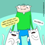 Cat comic Father's Day