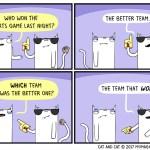 cat comic. sports