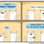 cat comic thirsty