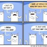 cat comic sense