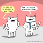 cat comic good person