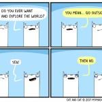 cat comic explore