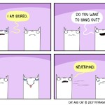 cat comic boredom