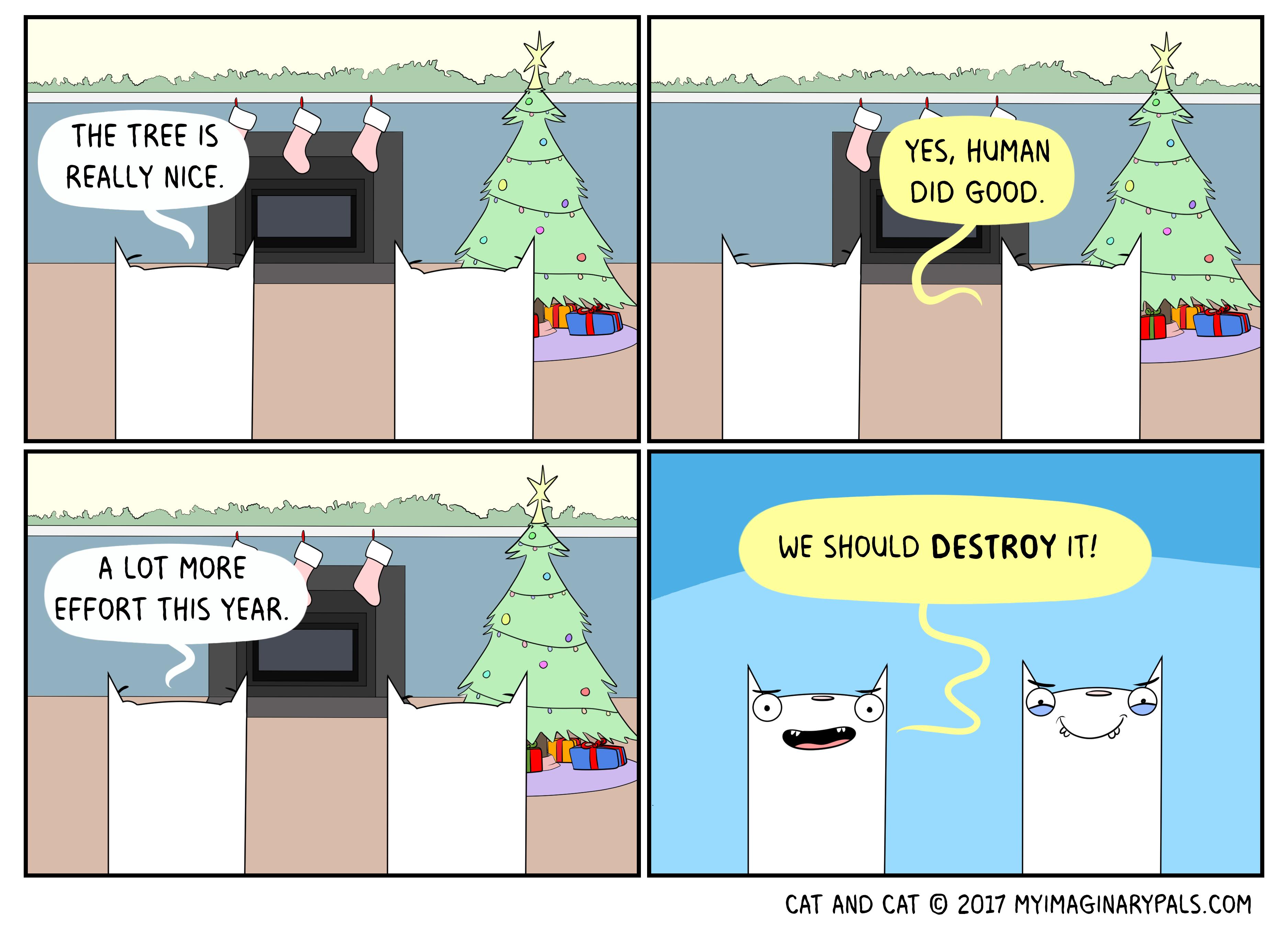 "Cat and Cat in ""Good Tree"""