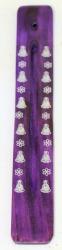 purple incense holder