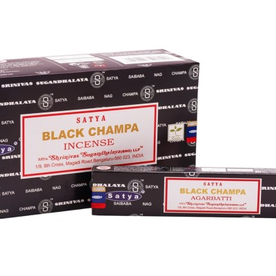 Satya Black Champa incense myprofitstore.com.au