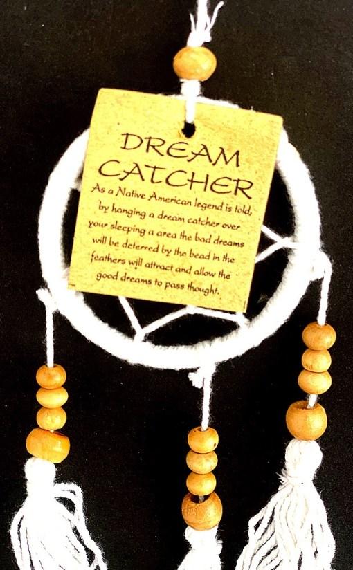 dream catcher white good dreams 12cm 1a