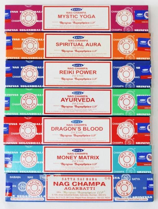 Sayta sai baba nagchampa incense nagchampa money matrix dragons blood ayurveda spitirual aura reiki power assorted mix
