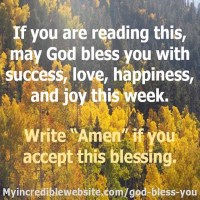 May God Bless You with Success, Love, and Joy