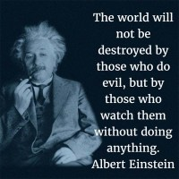 The Quotable Albert Einstein: On Evil