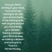 Ronda Rousey: On Making a Change
