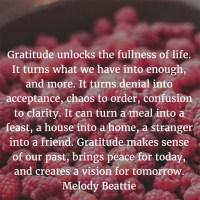 Melody Beattie: On Gratitude