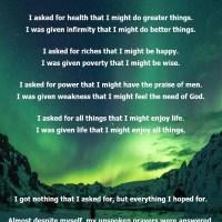 I Asked God for Strength Poem and Prayer