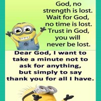Minions: On God and Prayer