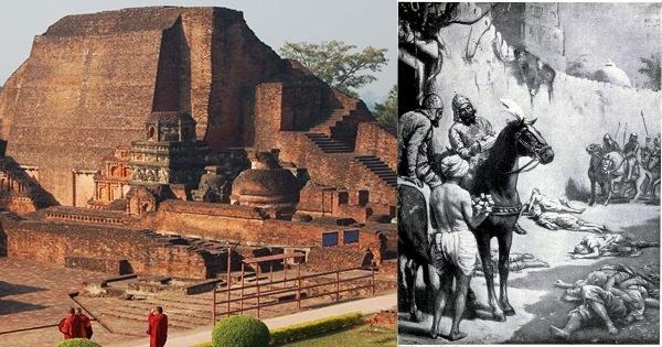 Nalanda 9 Million Books Burnt in 1193 by Bakhtiyar Khilji