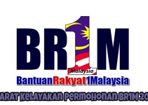 Syarat Kelayakan Permohonan BR1M 2018