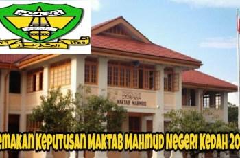 Semakan Keputusan Maktab Mahmud Negeri Kedah Sesi 2018 Online
