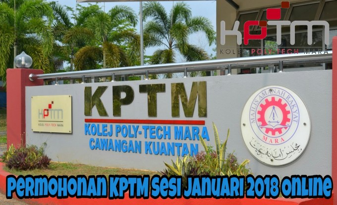 Permohonan KPTM Sesi Januari 2019 Online