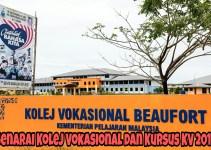 Senarai Kolej Vokasional dan Kursus KV 2018