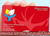 Permohonan Skim Peduli Sihat Selangor Online