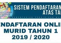 Pendaftaran Online Murid Tahun 1 Sesi 2019/2020