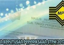 Semakan Keputusan Peperiksaan STPM 2017 Online
