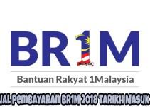 Jadual Pembayaran BR1M 2018 Tarikh Masuk Duit