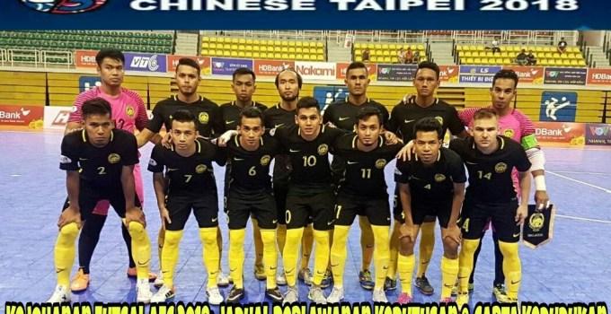 Kejohanan Futsal AFC 2018: Jadual Perlawanan Keputusan & Carta Kedudukan