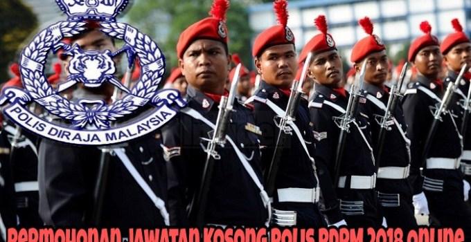 Permohonan Jawatan Kosong Polis PDRM 2018 Online