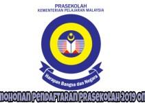 Permohonan Pendaftaran Prasekolah 2019 Online