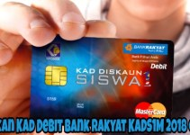 Semakan Kad Debit Bank Rakyat KADS1M 2018 Online
