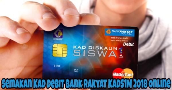 Semakan Kad Debit Bank Rakyat Kads1m 2020 Online