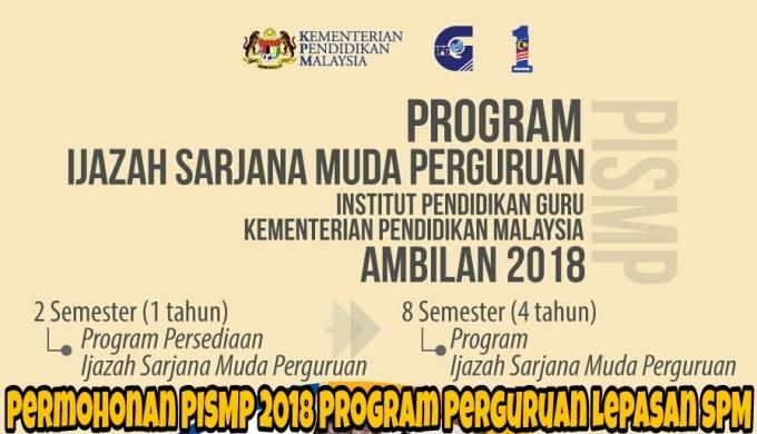 Permohonan Pismp 2020 Ipg Program Perguruan Lepasan Spm