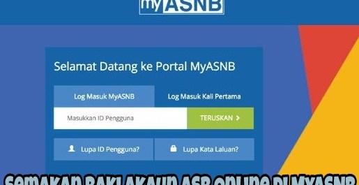Semakan Baki Akaun ASB Online di MyASNB
