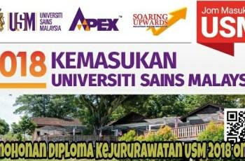 Permohonan Diploma Kejururawatan USM 2018 Online