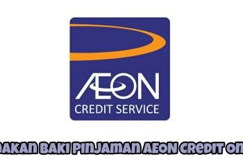 Semakan Baki Pinjaman AEON Credit Online