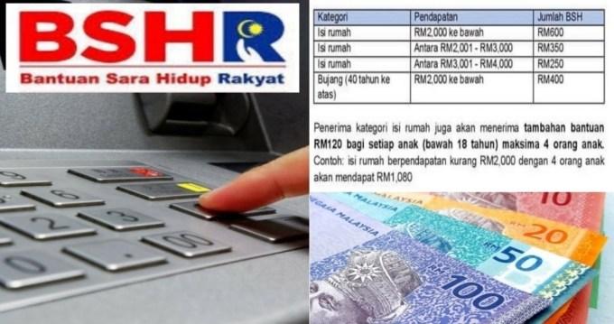 RASMI: Bayaran BSH Fasa 3 Bagi Isi Rumah RM600 & Tambahan Bantuan RM480 Untuk Anak