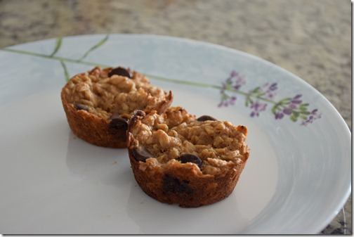 chocolate chip baked oatmeal muffins 007
