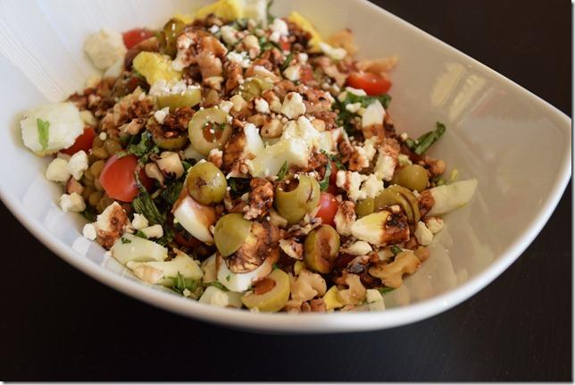 Everything but the Kitchen Sink Lentil Salad